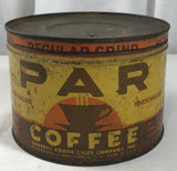 Vintage Par Coffee Improved One Pound Tin Can