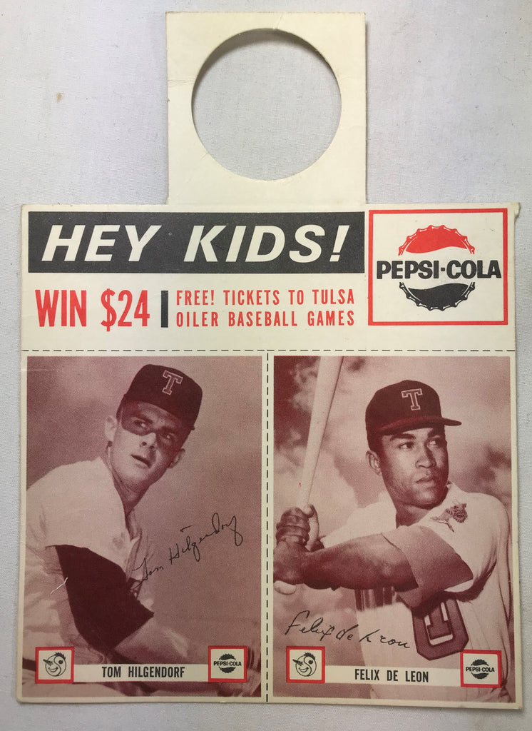 1963 Pepsi-Cola Tulsa Oilers Minor Baseball Team Tom Hilgendorf Felix De Leon - Cabin Fever Purveyors