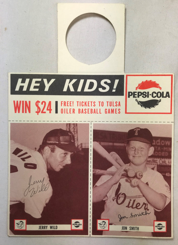 1963 Pepsi-Cola Tulsa Oilers Minor Baseball Team Jerry Wild Jon Smith MINT - Cabin Fever Purveyors