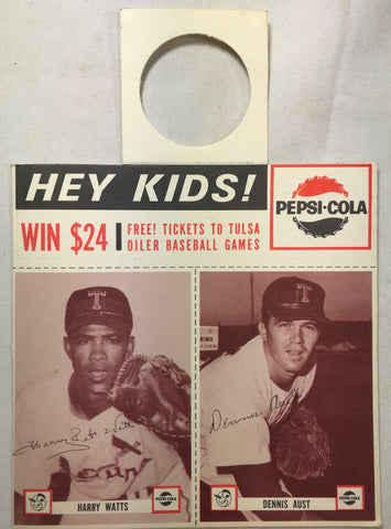 1963 Pepsi-Cola Tulsa Oilers Minor Baseball Team Harry Watts Dennis Aust MINT - Cabin Fever Purveyors