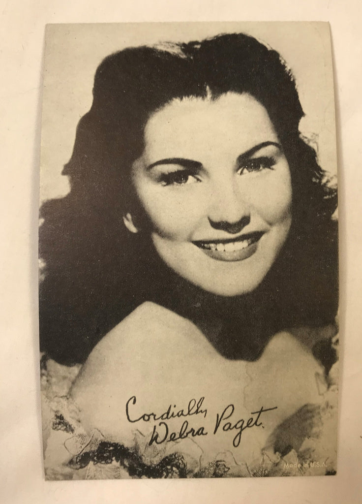 Vintage Arcade Exhibit Vending Photo Card Postcards Actress Debra Paget - Cabin Fever Purveyors