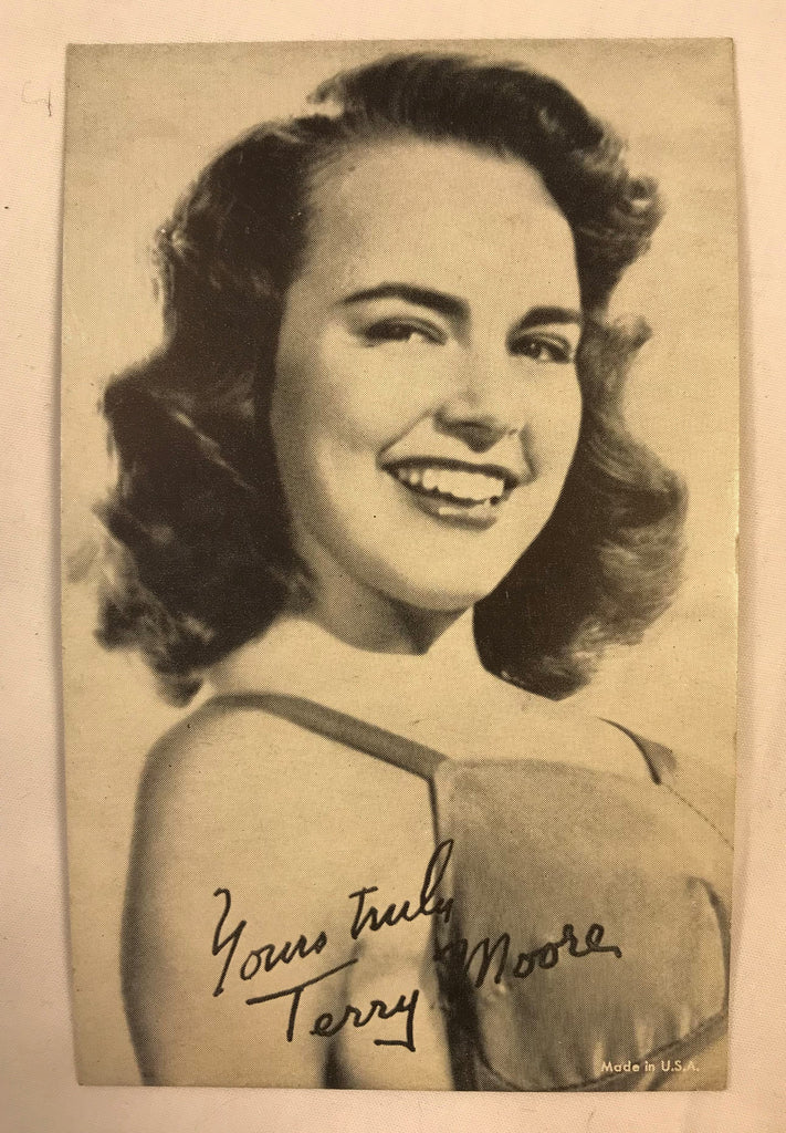 Vintage Arcade Exhibit Vending Photo Cards Postcards Actress Terry Moore Hughes - Cabin Fever Purveyors