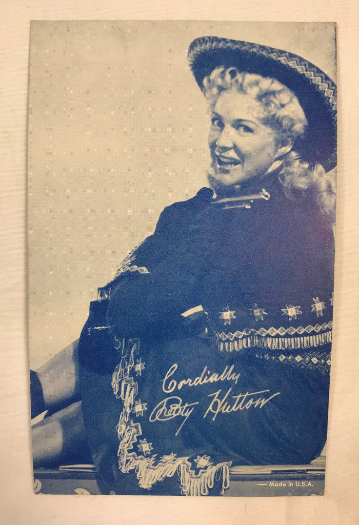 Vintage Arcade Exhibit Vending Photo Cards Postcards Betty Hutton Western Theme - Cabin Fever Purveyors