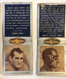 Diamond Match Cover Book U PICK FootBall Players Lions Pirates U of ILL 1930s - Cabin Fever Purveyors