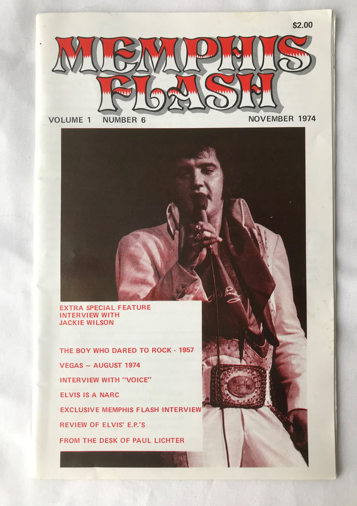 Vintage Memphis Flash Magazine Vol 1 #6 Elvis Presley - Cabin Fever Purveyors
