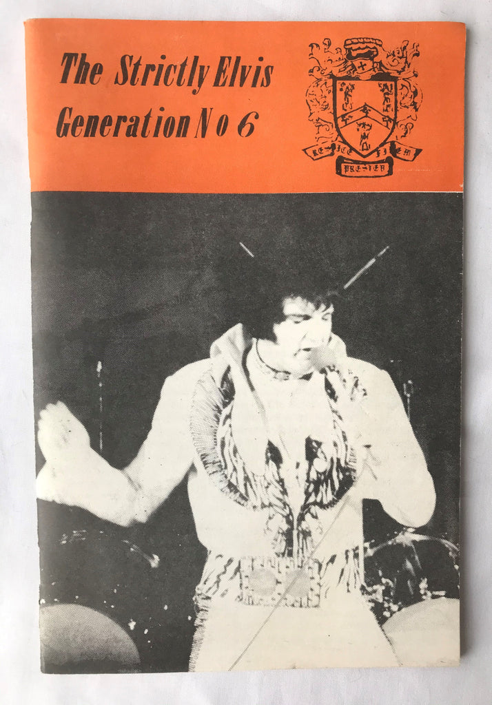 Vintage The Strictly Elvis Generation Magazine #6 March 1976 Fan Club Newsletter - Cabin Fever Purveyors