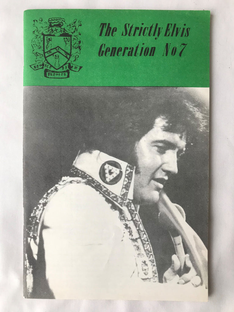 Vintage The Strictly Elvis Generation Magazine #7 May 1976 Fan Club Newsletter - Cabin Fever Purveyors