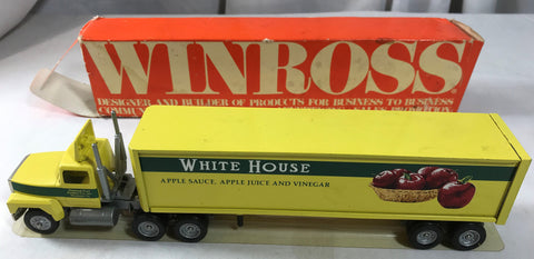 1988 White House Apple Sauce Juice Vinegar WINROSS DieCast Semi Truck Trailer - Cabin Fever Purveyors