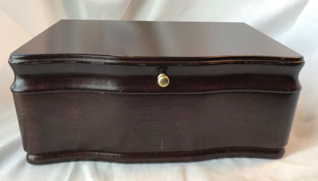 Vtg Powell Jewelry Box Tray Insert Blue Velvet Trinket Lightly Used Paperwork - Cabin Fever Purveyors