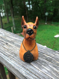 "Vintage Great Dane Hard Rubber Car Pet 4 3/4"" tall"