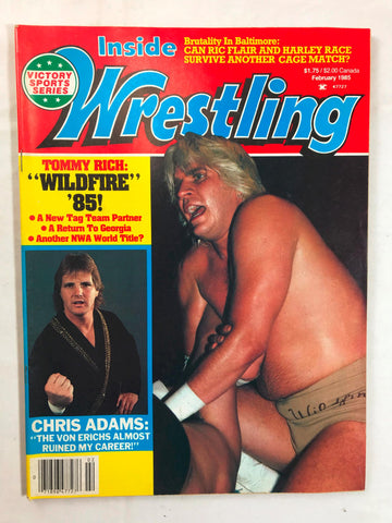 Vintage Inside Wrestling Magazine February 1985 Tommy Rich Chris Adams Von Erich