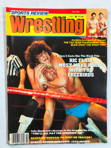 Vintage Sports Review Wrestling Magazine July 1984 Ric Flair Hacksaw Duggan WWF