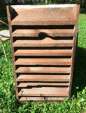Vintage Primitive Wood Barn Attic Air Vent Shabby Architectural Salvage Chippy