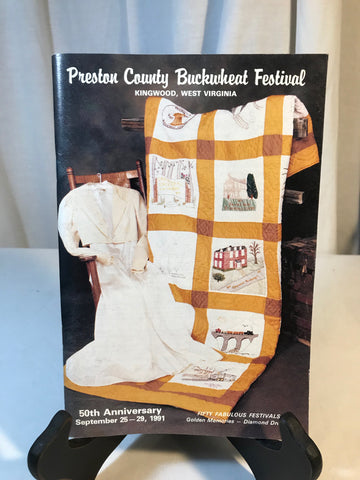 Vintage Preston County Buckwheat Festival WV Program Booklet Photos Sept 1991