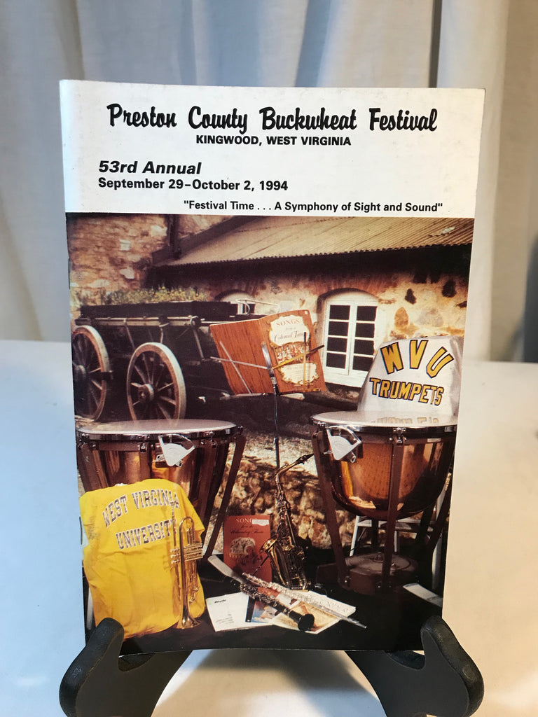 Vintage Preston County Buckwheat Festival WV Program Booklet Photos Sept 1994 - Cabin Fever Purveyors