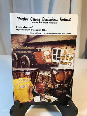 Vintage Preston County Buckwheat Festival WV Program Booklet Photos Sept 1994