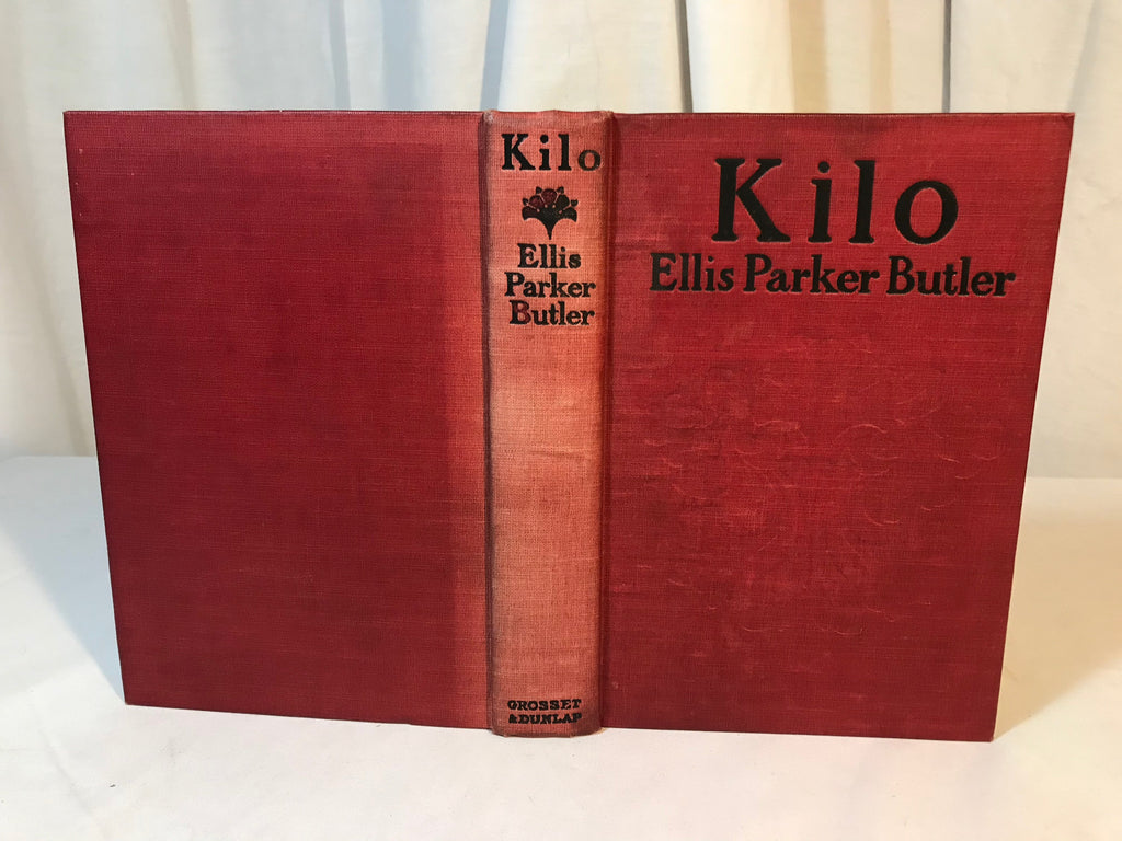 Vtg Kilo by Ellis Parker Butler 1907 Hard back Red Binding Very good condition - Cabin Fever Purveyors