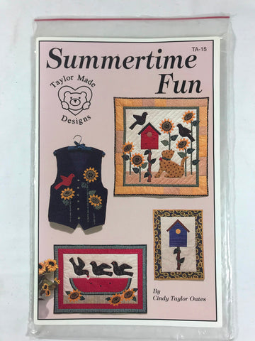 Taylor Made Designs Summertime Fun Sampler Quilts Unused TA-15 Sunflowers Birds