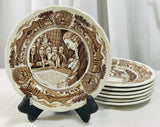 "Royal Staffordshire J & G Meakin American Legend 7"" Ironstone England 7 Plates - Cabin Fever Purveyors"