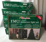150 Christmas Net Light Set Clear Steady Burning 6' x 4' New Tested