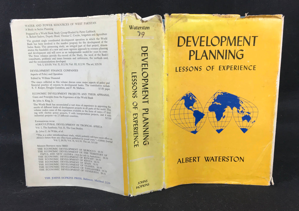 Development Planning Lessons of Experience Albert Waterston 1969 HB DJ