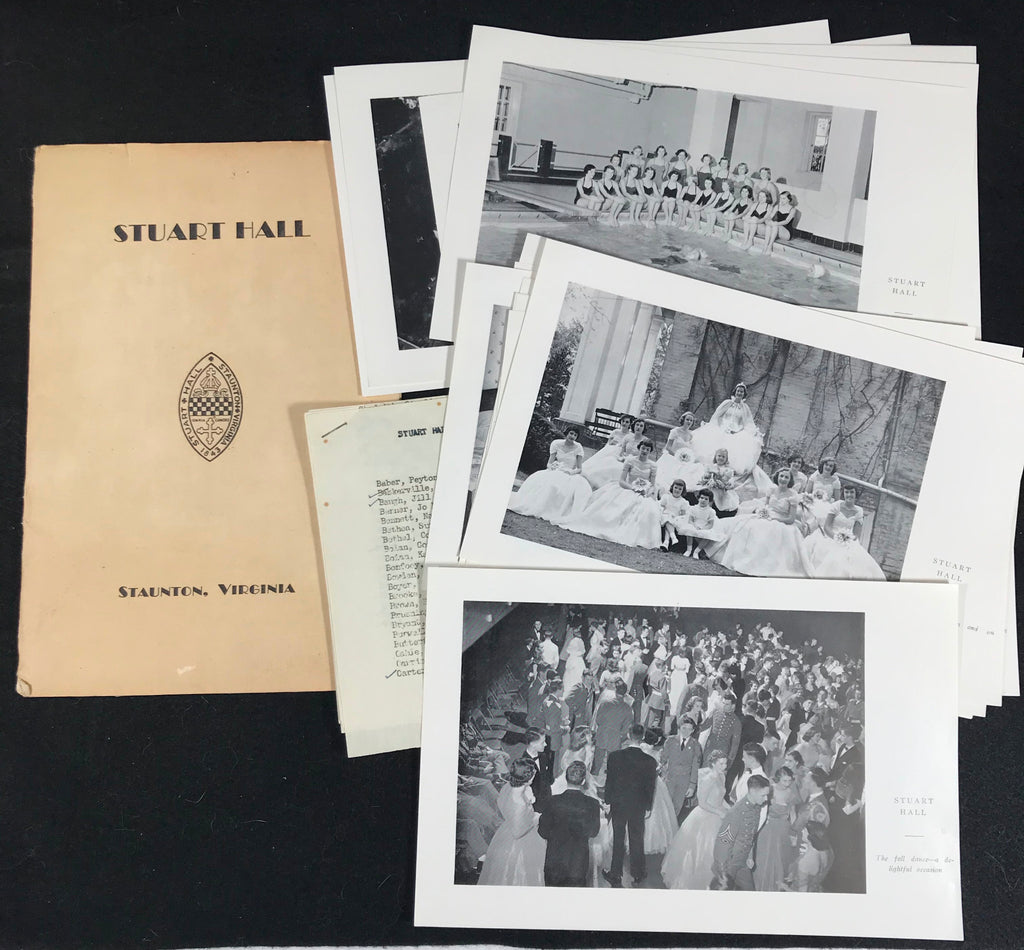 1953 Stuart Hall School Folder Staunton VA 22 Photos List of Students Faculty