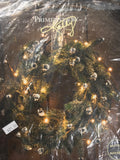 "Lighted Twig Wreath Ring 12"" Diameter  Battery Operated 32 lights Cottage Decor - Cabin Fever Purveyors"