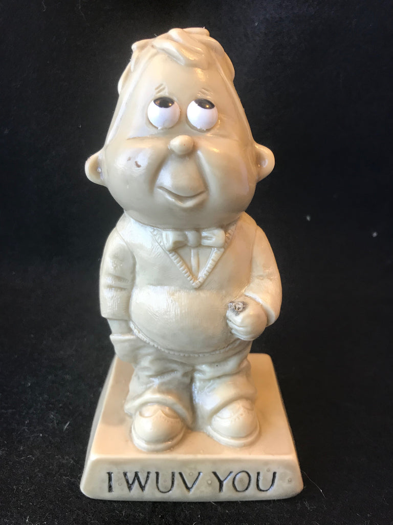 Vtg Berries Sillisculpt Figure I Wuv You Man 1970 Retro Love - Cabin Fever Purveyors
