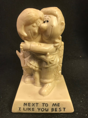 Vtg Berries Statue Sillisculpt Next To Me I Like You Best Love Valentine - Cabin Fever Purveyors