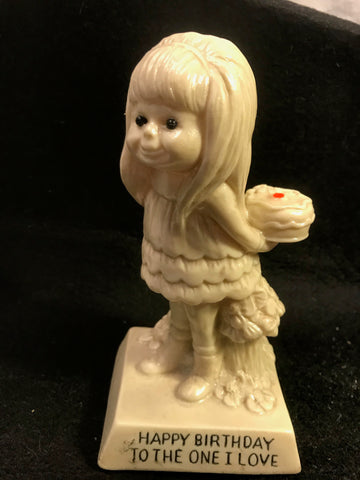 Vtg Berries Statue Sillisculpt Happy Birthday To The One I Love #719 - Cabin Fever Purveyors