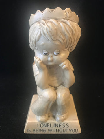 Vtg Berries Statue Sillisculpt Loneliness is Being Without You 1971 - Cabin Fever Purveyors
