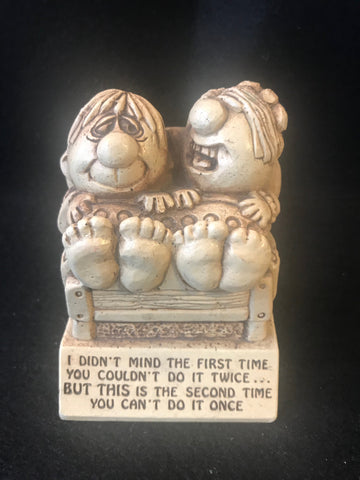 Vtg Paula Statue Sillisculpt You can't do it once Sex 1972 W-269 - Cabin Fever Purveyors
