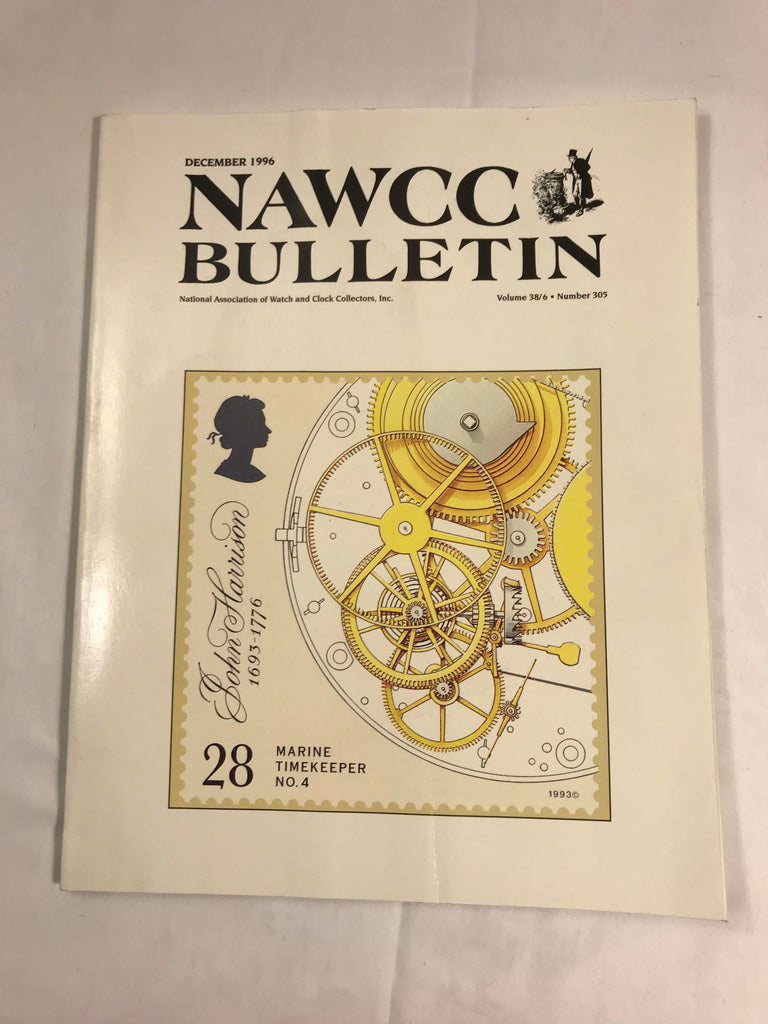 NAWCC Bulletin #305 December 1996 Horological Ephemera Military Watches V 38 - Cabin Fever Purveyors