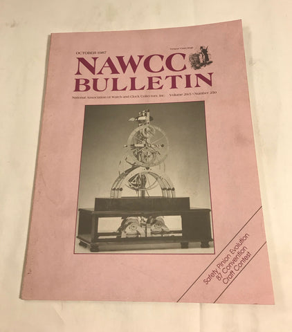 NAWCC Bulletin #250 October 1987 V 29 Safety Pinion French Clock Deuber Watch - Cabin Fever Purveyors