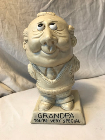 Vtg R & W Berries Statue Sillisculpt Grandpa You're Very Special 1973 #9068 - Cabin Fever Purveyors
