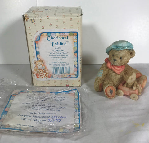 Cherished Teddies Harrison We're Going Places Enesco 1992