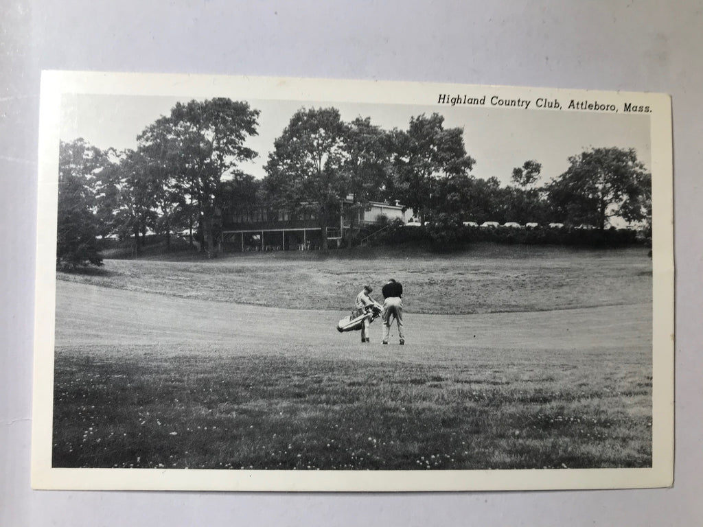 Attleboro MA Highland Country Club Golfer with Caddie Unposted - Cabin Fever Purveyors