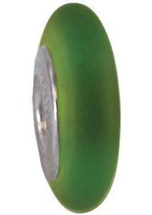 "Fenton Art Glass Spacer Bead Made USA ""Velvet Avocado"" Jena L Blair Retired NIP - Cabin Fever Purveyors"