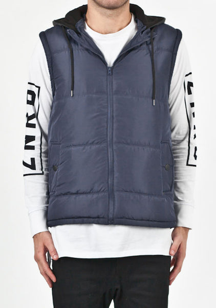 Deacon - Route Hood Vest Navy