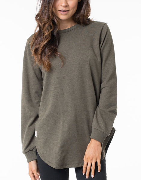 All About Eve - Jumper Longline Khaki