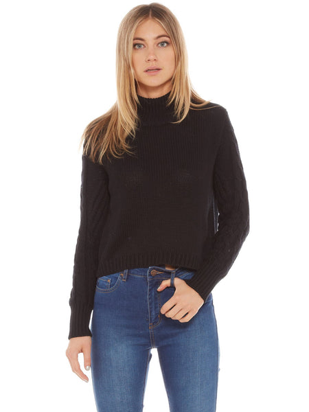 All About Eve - Forever Knit Jumper Black