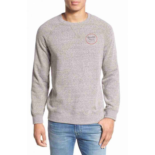 Brixton - Wheeler Crew Heather Grey