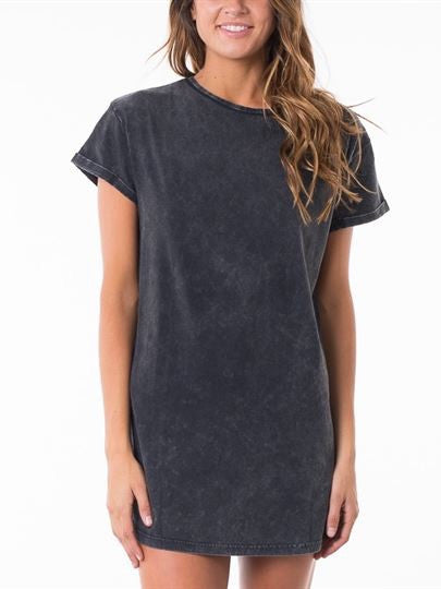 Silent Theory - Exes Tee Dress Washed Black