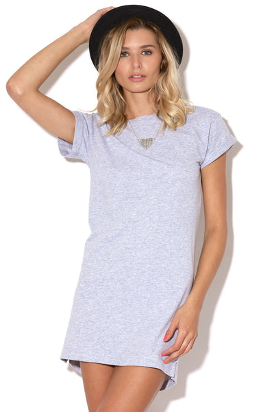 Silent Theory - Exes Tee Dress Grey Marle