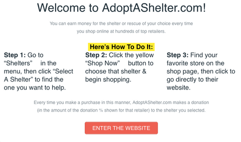 adopt a shelter website image