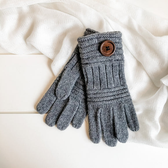 knit button gloves
