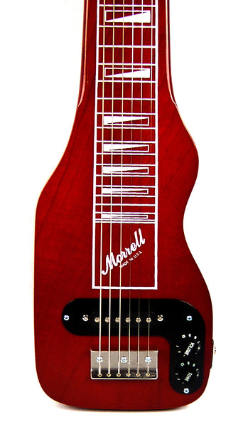 Morrell USA PLUS Series 6-String Lap Steel Guitar Transparent Red Finish