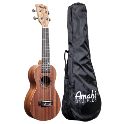 Amahi UK150W Soprano Ukulele with Gig Bag