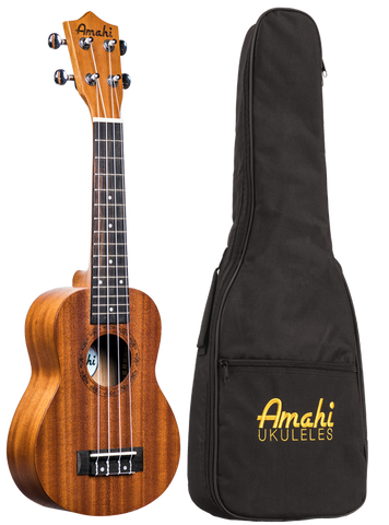 Amahi UK210S Soprano Ukulele with Gig Bag