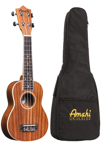 Amahi UK217S Soprano Ukulele with Gig Bag